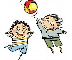 kinderen met bal