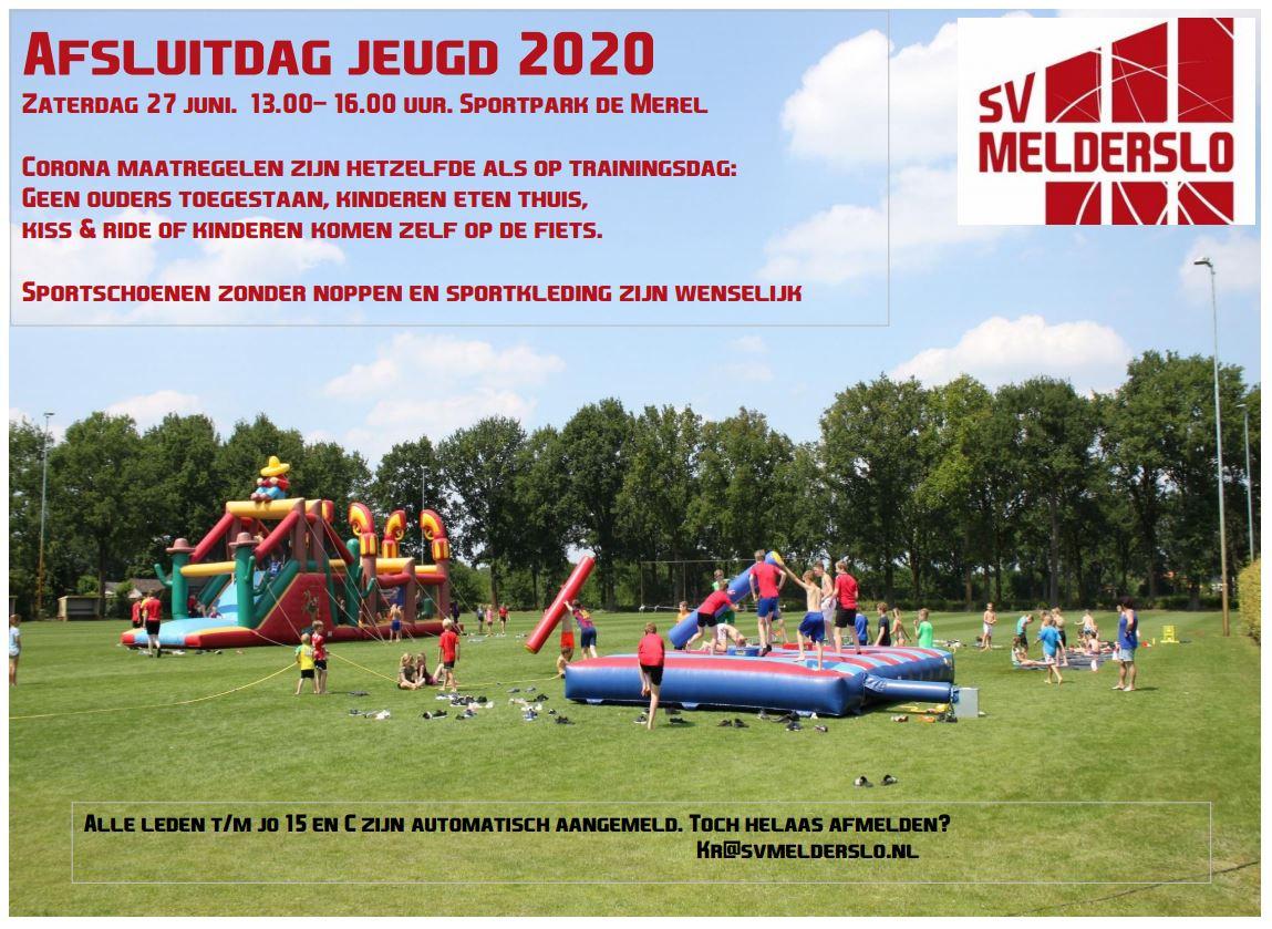 Afsluitdag jeugd 2020